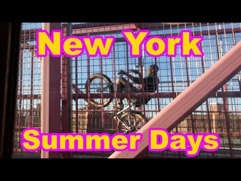 NYC Bike Stunts on Williamsburg bridge to Brooklyn
