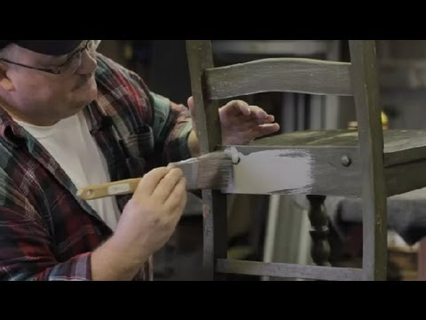 How to Paint Kitchen Furniture : Furniture Repair & Refinishing