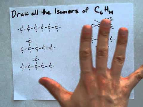 Draw the Isomers of hexane (C6H14)