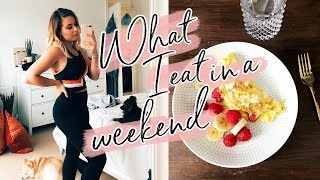 WHAT I EAT IN A WEEKEND + WORKOUTS | Hello October AD