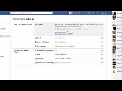 Removing sound notificaitons in facebook