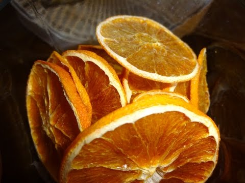 Dehydrating Orange slices for long term storage
