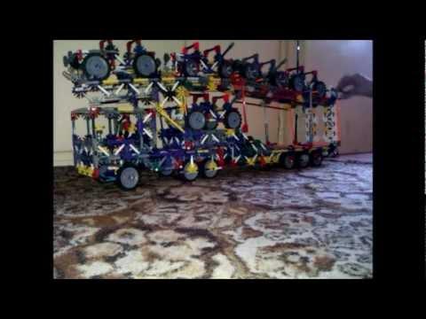 010 - K'NEX Articulated Car Carrier Trailer