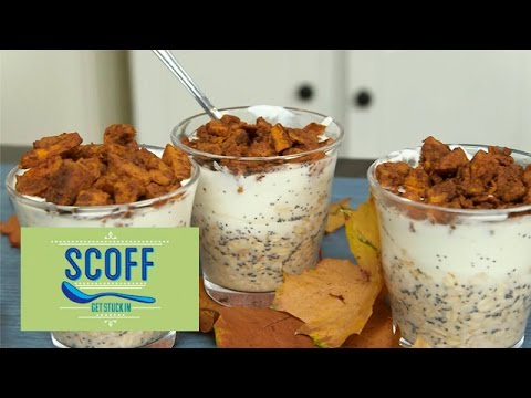 Pumpkin Spiced Fridge Oats | Saintly Snacks
