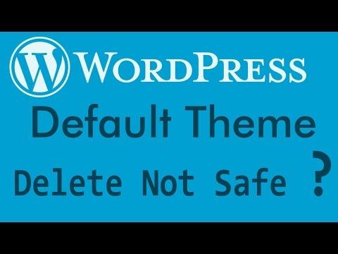 Wordpress - Delete Wordpress Default Themes ?