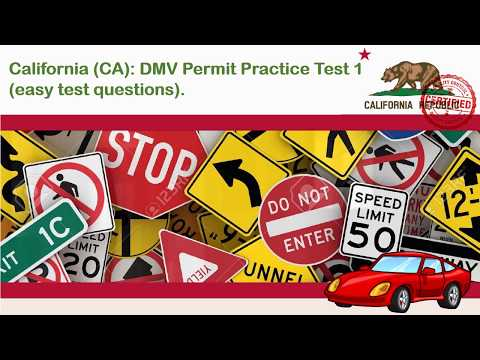 Driving license test: California DMV Permit Practice Test #1 (Easy)