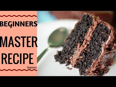 How to make chocolate cake at home (beginners)| Chocolate Cake and Frosting Cocoa Powder