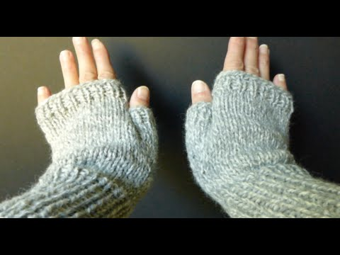 EASY, SIMPLE, BASIC Fingerless Gloves (Adult Sm/Med size) 4 Advanced Beginner