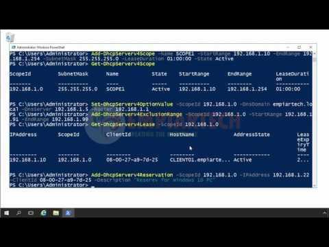 How to create DHCP Reservation using powershell