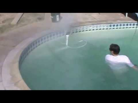 INSTRUCTION 25. Pool Tile Cleaning Demo 4.  Mr. Hard Water Pool Tile Cleaning Blast Kits