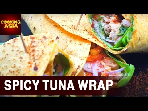 How To Make A Spicy Tuna Wrap | Cooking Asia