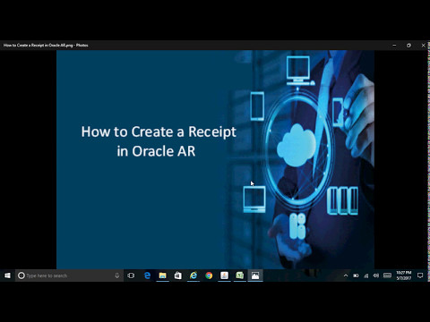 How to Create a Receipt in Oracle AR