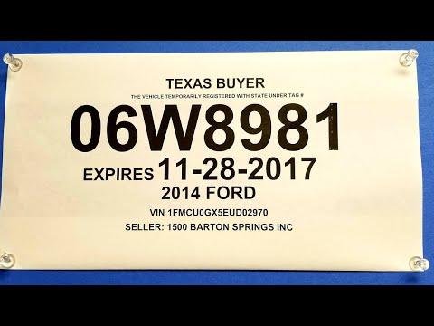 Paper license plates sold for cash