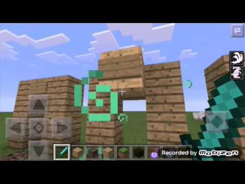 How to make a one way door| Minecraft PE