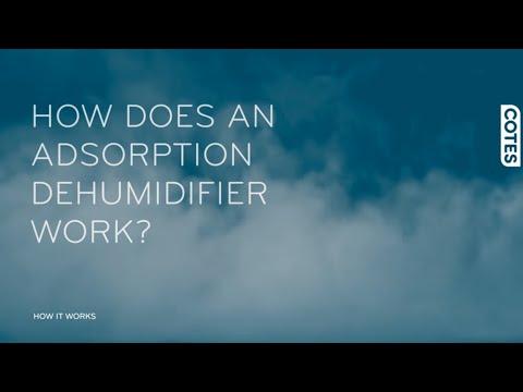 How does an adsorption dehumidifier work