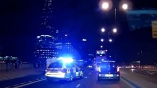 dashcam video shows chaos after london attack