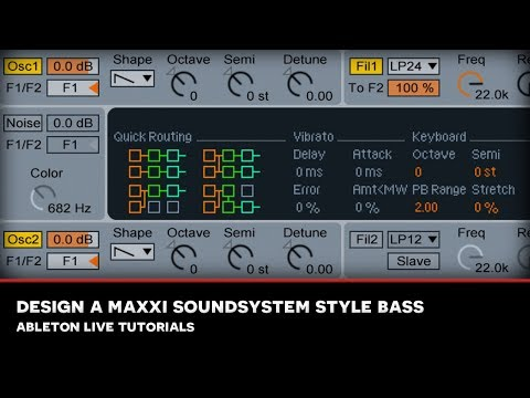 SEM : ABLETON LIVE TUTORIAL : Designing a Maxxi Soundsystem style deep house bass