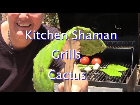Grilling Nopales (Cactus)