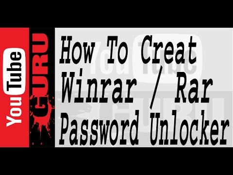 How to creat Winrar / Rar  password & unlock the Password