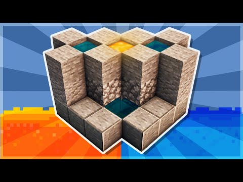 Minecraft Tutorial #24 - How to Build a 2 Person Cobblestone Generator - 1 Lava Bucket