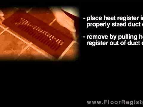 How to install heat floor registers - floorregisters.net