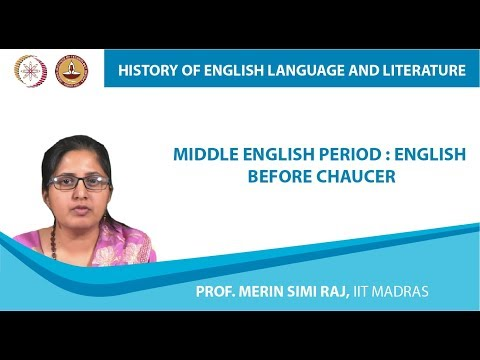 Middle English Period : English Before Chaucer