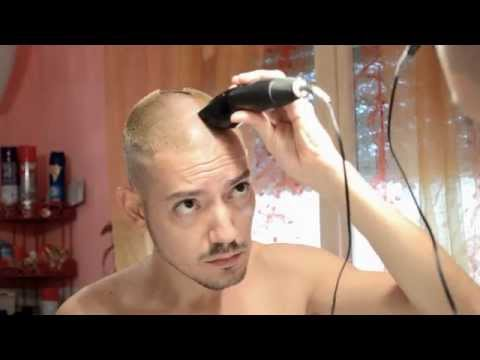 Self-made haircut: bald
