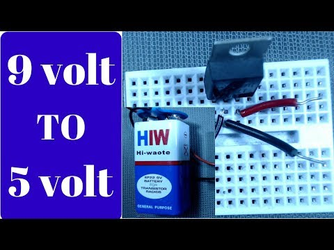 how to get 5 volts from a 9 volt battery