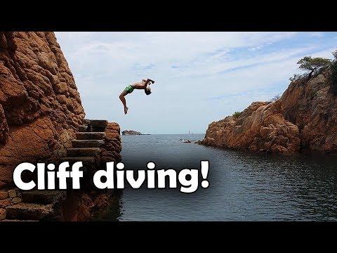 Cliff diving in Spanien!!