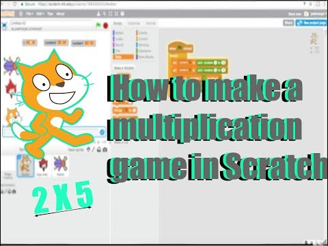 How to make a multiplication math game in Scratch