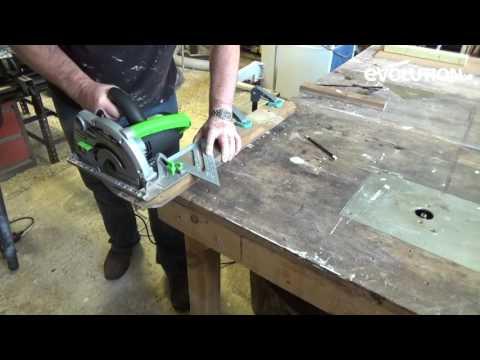 Evolution Fury185mm Circular Saw : Cut brick using a circular saw!