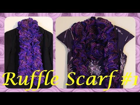 How to make Crochet Ruffle Scarf -  Version #1