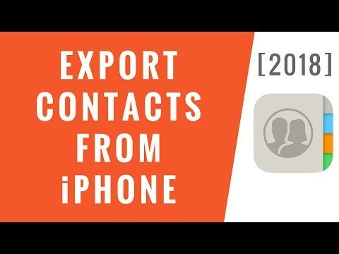 Export Contacts From iPhone! [2018]
