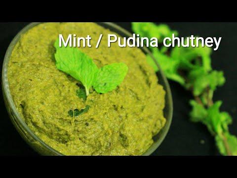Mint chutney - Pudina chutney - Chutney recipe - Green chutney - Sauteed green chutney