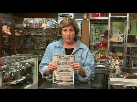 How to Sell Antiques : Selling Antiques: Sports Cards