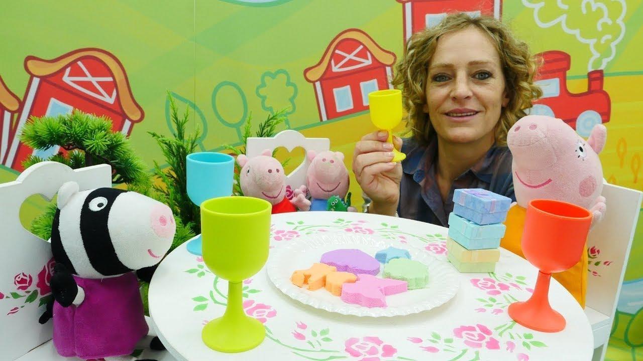 Spielspaß mit Peppa Wutz - Spielzeugvideo für Kinder - 4 Folgen am Stück