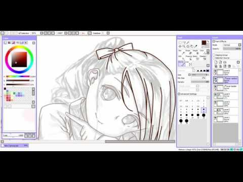 Paint tool SAI Lineart Tutorial for mouse user/newbie ( Bahasa Indonesia)