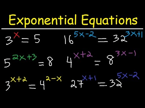 Solving Exponential Equations With Different Bases Using Logarithms - Algebra
