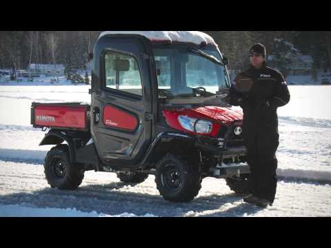Kubota Winter Traction Testing with Woody's Twist Screws
