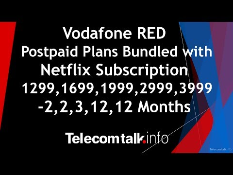Plan Details : Vodafone RED Postpaid Plan with Netflix Subscription