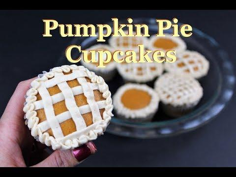 Pumpkin Pie Cupcakes | CHELSWEETS