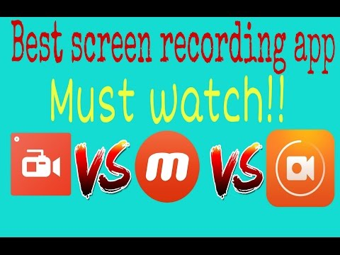 Top 3 screen recording app for android[Hindi]