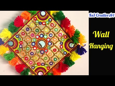 Diwali home decor craft |Diwali Craft ideas | Woolen wall hanging idea | Home Decoration Idea