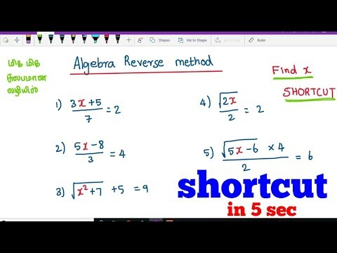 Algebra shortcut in 5 sec ( reverse algebra method) by iGriv IAS Academy