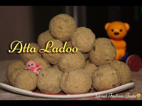 Healthy Atta Ladoo | Wheat Flour Sweet - TheGreatIndianTaste.com