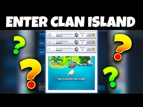 WHAT HAPPENS WHEN YOU ENTER 'CLAN ISLAND' in Clash Royale!