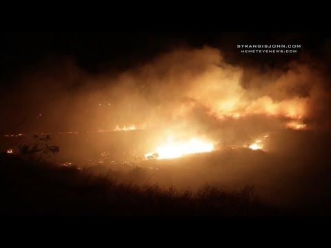 Jurupa Valley: Hall Vegetation Fire