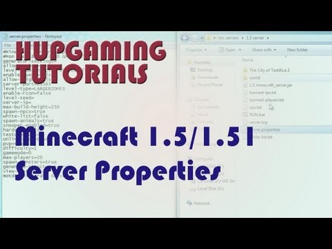 Minecraft 1.5/1.5.2 server properties tutorial/guide (HD)