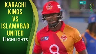 PSL 2017 Match 20: Karachi Kings vs Islamabad United Mini Highlights