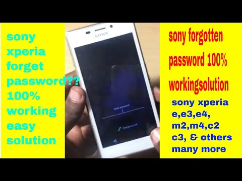 sony xperia m2/e3/e4/m4/ forgotten pattern || password reset|| hard reset